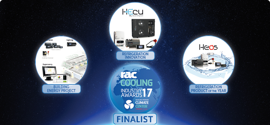 CAREL finalista in tre categorie ai RAC Cooling Awards